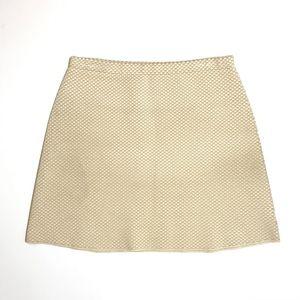 Theory Skirt Knitted Stretch Geometric Print ivory